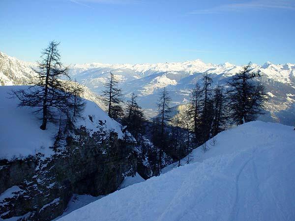 Quelque part au-dessus d'Ovronnaz, au Valais.