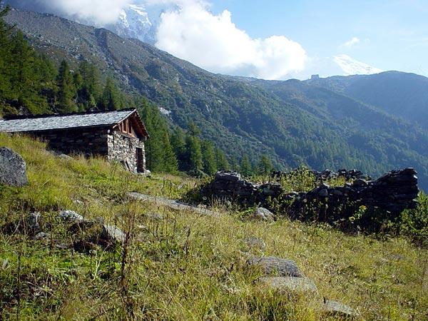 Au-dessus de Chamonix, septembre 2002.