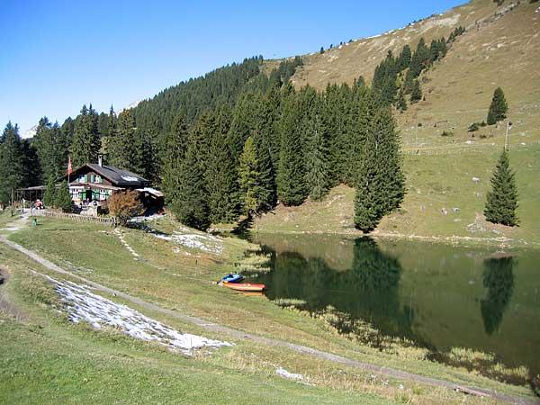 Les Diablerets, octobre 2003: le lac Retaud.