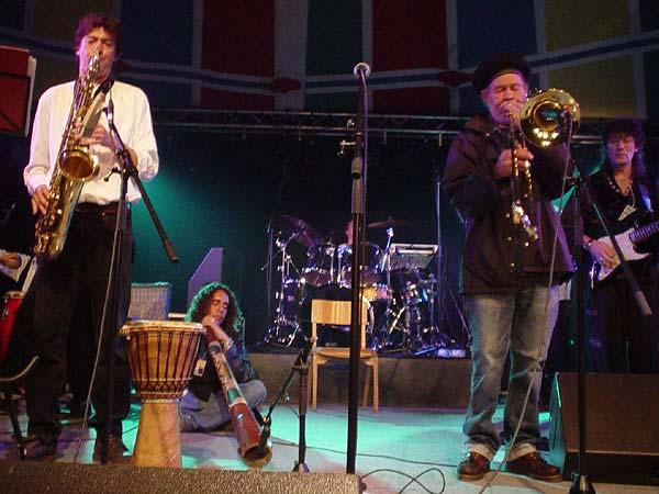 World Music Festiv'Alpe, Château-d'Oex: Rico & the Imperials, vendredi 9 août 2002.