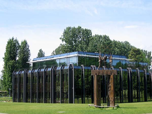 Lausanne: le siège du CIO - Comité International Olympique, à Vidy.