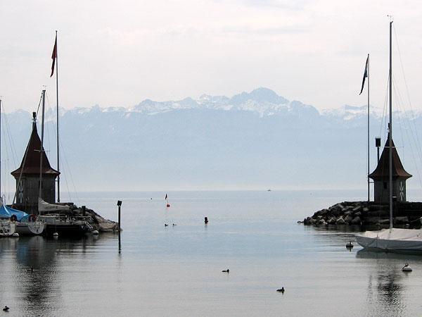 Morges: le port.