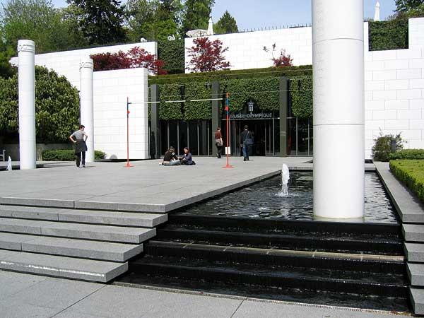 Lausanne: l'entrée du Musée olympique.
