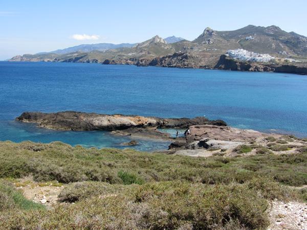 Naxos, plus grande et plus haute île des Cyclades, avril 2012.