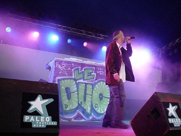 Le D.U.O., Paléo Festival Nyon, Club Tent, 23 juillet 2002.