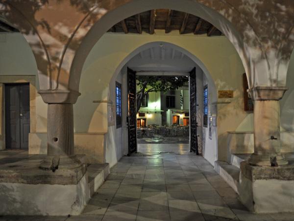 Parikia, Paros, Cyclades, avril 2012. Basilique Panaghia Katapoliani.