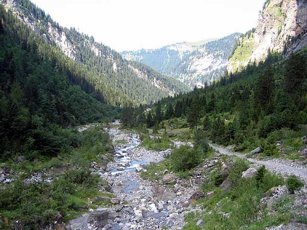 Au-dessus des Plans-sur-Bex s'ouvre la réserve naturelle du Grand Muveran, avec le pittoresque Vallon de Nant.
