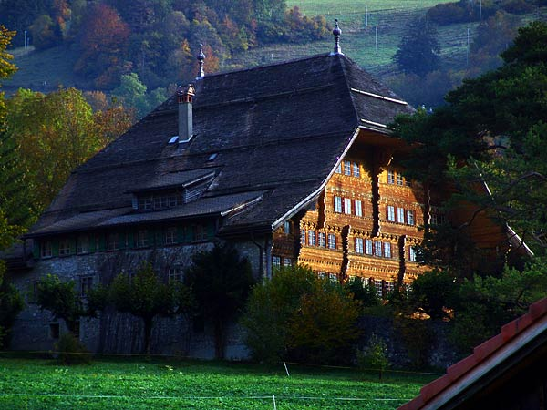 Rossinière, le Grand Chalet de Balthus, octobre 2004.