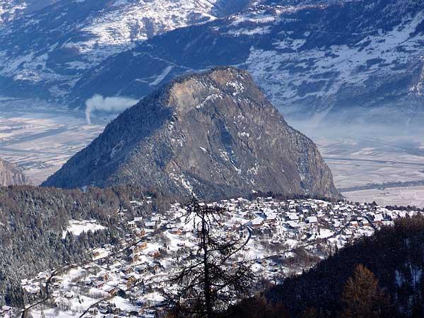 Vue sur Ovronnaz, 29 décembre 2004.