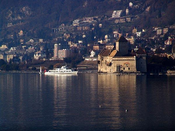 Veytaux et le Château de Chillon, 20 mars 2005.