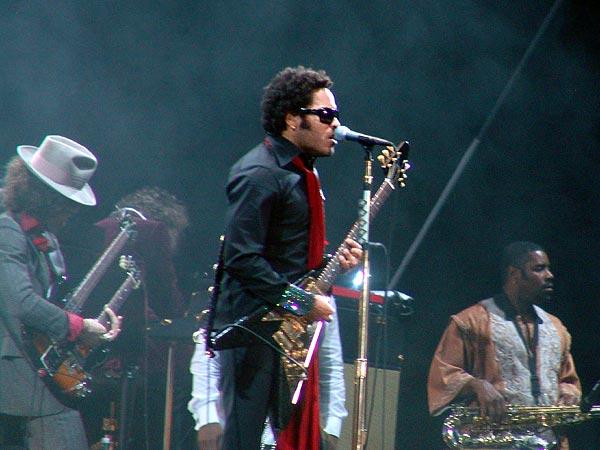 Paléo Festival 2005: Lenny Kravitz, mardi 19 juillet 2005, Grande Scène.