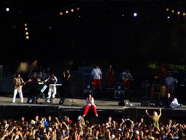 Paléo Festival 2005, mercredi 20 juillet: Sinsemilia, Grande Scène.