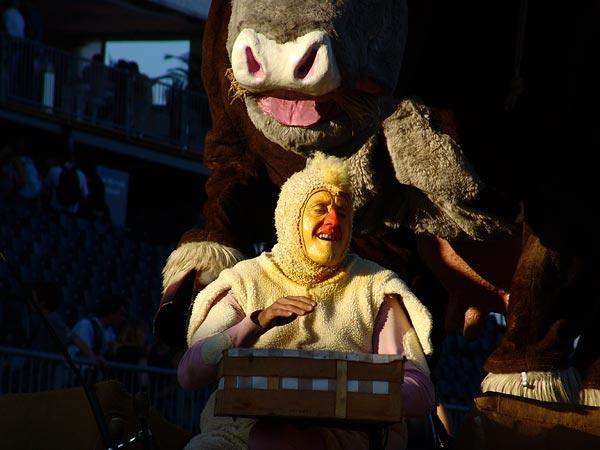 Paléo Festival 2005, mercredi 20 juillet: Théâtre de la Toupine.