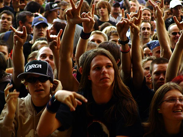 Ambiances du Paléo Festival 2005, vendredi 22 juillet 2005.