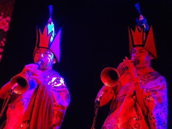 Paléo Festival 2005: Tbt'Cham, les moines Bönpös du Tibet, dimanche 24 juillet, Dôme.