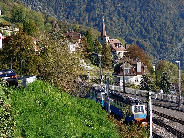 Gare MGN de Glion, octobre 2005.