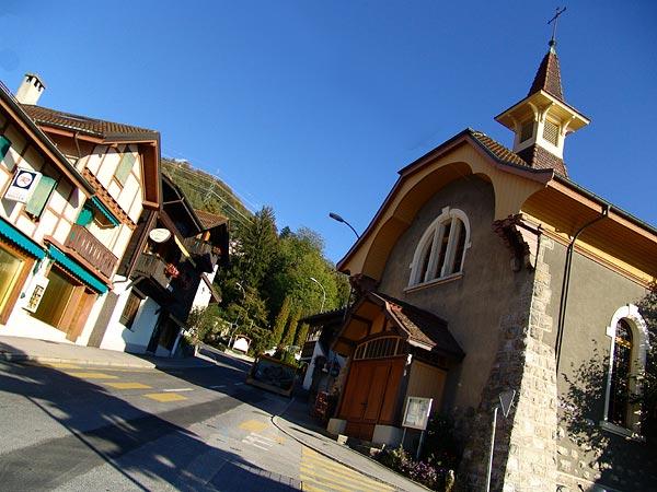 Village de Glion-sur-Montreux, octobre 2005.