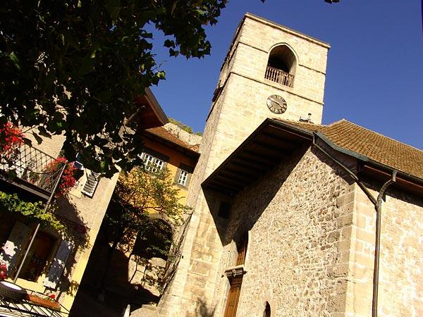 L'église de St-Saphorin, octobre 2005.