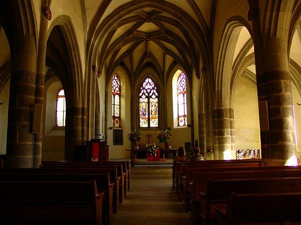 Dans l'église de St-Saphorin, octobre 2005.