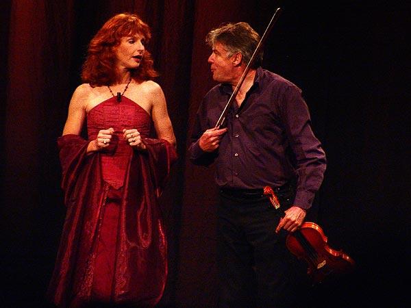Didier Lockwood & Caroline Casadesus, Le Jazz et la Diva, Miles Davis Hall, Montreux, mercredi 22 février 2006.