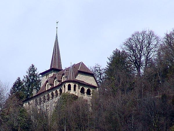 Eglise de Glion, avril 2006.