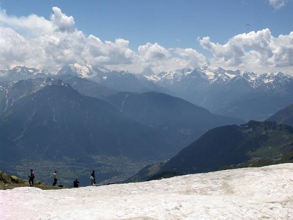 Près du Glacier d'Aletsch, juin 2006.