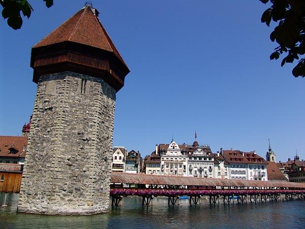 Old Bridges, Lucerne, July 2006.
