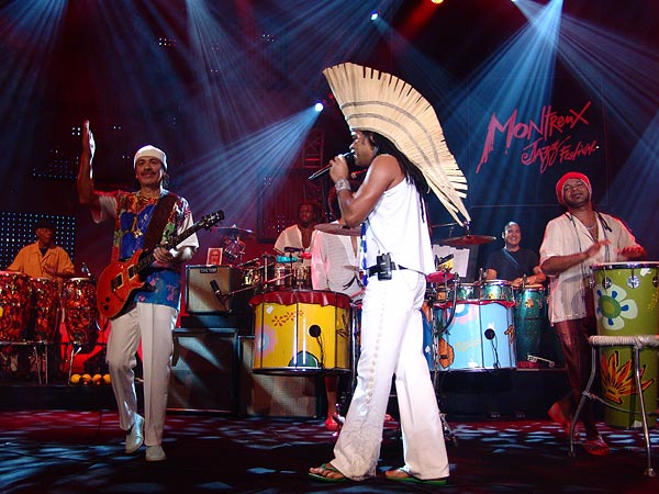 Montreux Jazz Festival 2006: Santana's Dance to the Beat of My Drum, Auditorium Stravinski, July 9, a special project with Idrissa Diop (Musical Director), Carlinhos Brown, Los Ibellis Jr, Mory Kanté, Angélique Kidjo, Kora Jazz Trio, Touré Kunda, Ismaël Lô, Brazil Percushow, Boubacar and Valle.