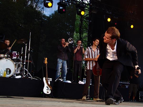 Paléo Festival 2006: Bénabar, Grande Scène, samedi 22 juillet 2006.
