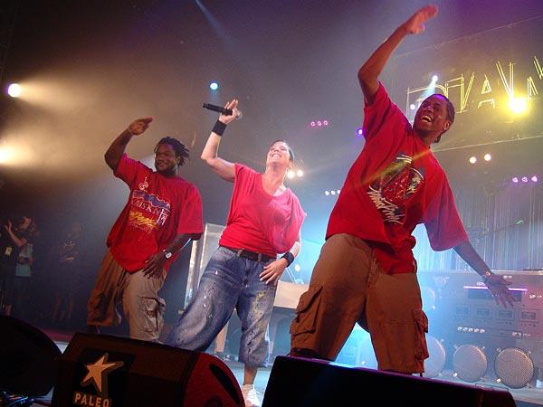 Paléo Festival 2006: Diam's, Chapiteau, samedi 22 juillet 2006.