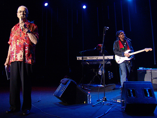 Montreux Jazz Festival 2009, Tribute to Chris Blackwell: Claude Nobs introducing Third World, July 10, Auditorium Stravinski.