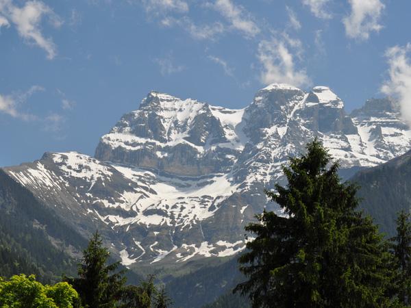 Champéry, vue sur les Dents-du-Midi, juin 2010.