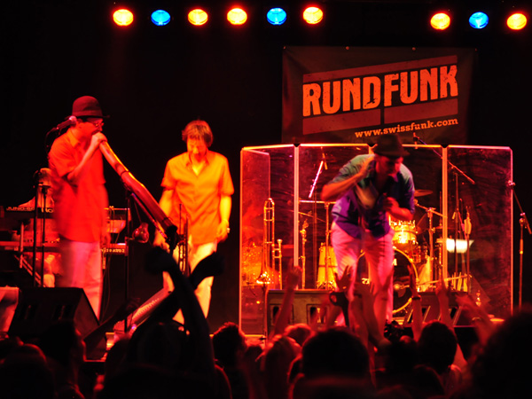 Montreux Jazz Festival 2010: RundFunk (funk from Switzerland), July 2, Music in the Park (Parc Vernex).