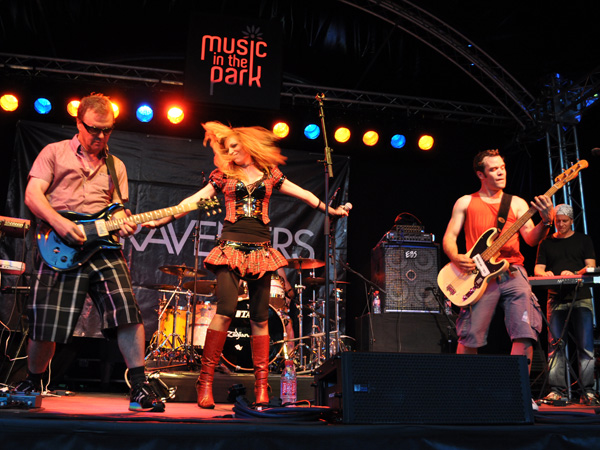 Montreux Jazz Festival 2010: The Raveners (rock from Switzerland), July 3, Music in the Park (Parc Vernex).