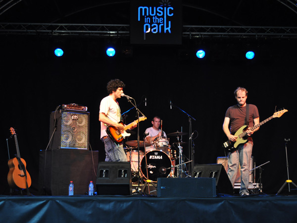 Montreux Jazz Festival 2010: Pascal Gamboni (singer-songwriter from Switzerland, singing in Rumantsch language), July 4, Music in the Park (Parc Vernex).