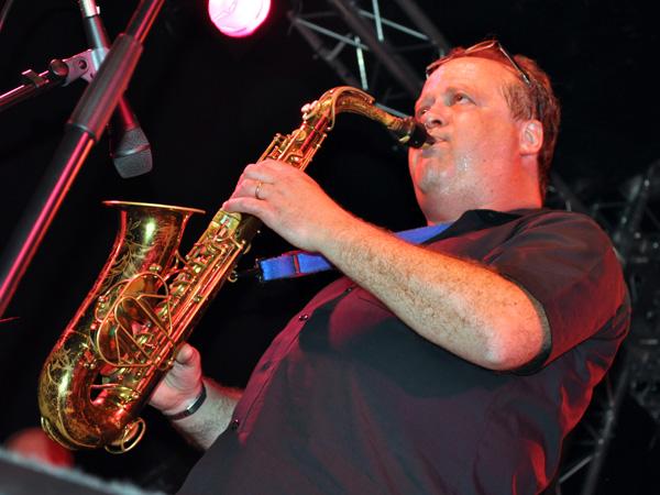 Montreux Jazz Festival 2010: Big Band de l'Ecole de Jazz de Montreux (jazz from Switzerland). July 5, Music in the Park (Parc Vernex).
