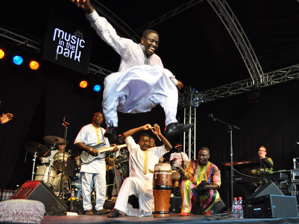 Montreux Jazz Festival 2010: Baye Magatte Band (afro new music from Senegal), July 11, Music in the Park (Parc Vernex).