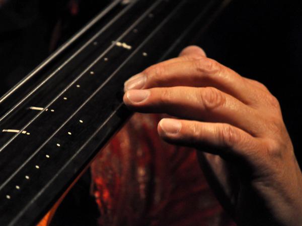 L'Heure Bleue: Mich Gerber met en musique le crépuscule. Plage de la Maladaire, La Tour-de-Peilz, vendredi 30 juillet 2010.