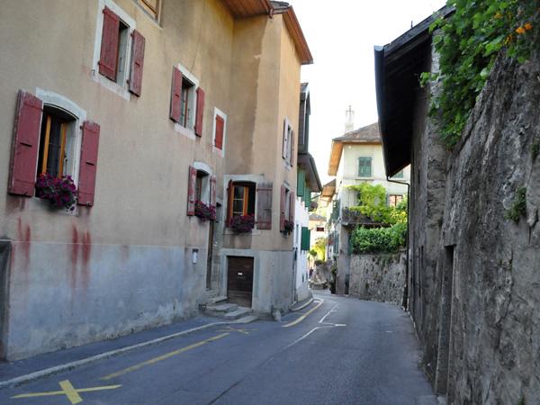 Au village d'Epesses, en Lavaux, juillet 2010.