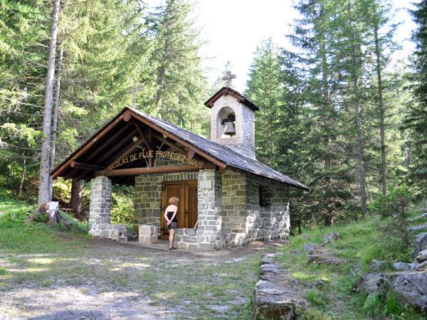 Chapelle dédiée à St Nicolas de Flue, Derborence, Valais, août 2010.
