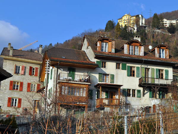 The village of Veytaux in winter, January 2011. Everybody thinks that the Castle of Chillon is in Montreux, but in fact it's located on the territory of Veytaux!