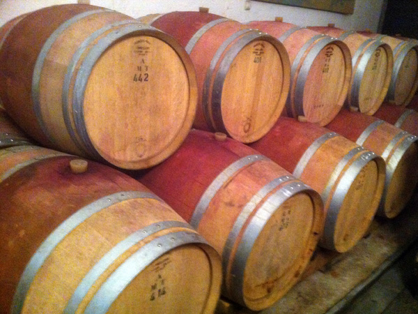 Dans les caves de Patrick Fonjallaz, vigneron à Epesses en Lavaux, février 2011.