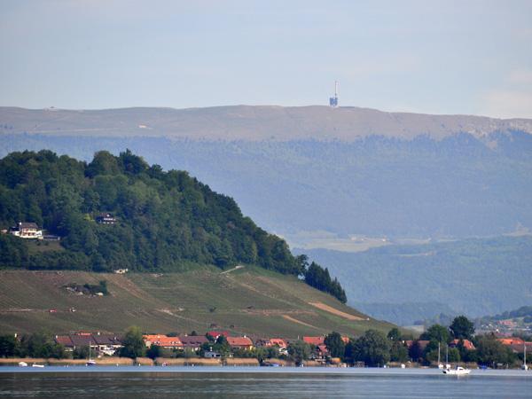 Lac de Morat, au sud des vignobles du Mont Vully, 9 mai 2011.