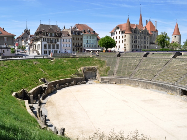Avenches, dans la région des Trois-Lacs, ancienne capitale de l'Helvétie romaine, 9 mai 2011.