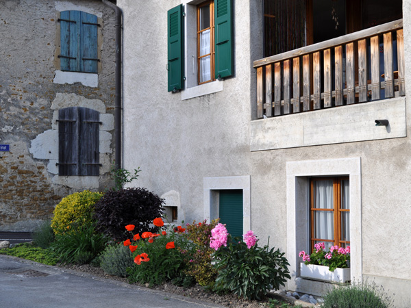 Bonvillars, dans la région des Trois-Lacs, 20 mai 2011. Le seul village vigneron ayant donné son nom à une AOC vaudoise, qui regroupe également les terroirs de Valeyres-sous-Montagny, Champagne, Corcelles-près-Concise, Onnens et Concise.