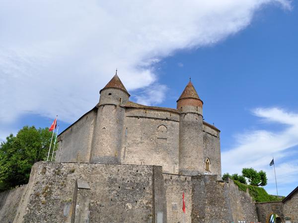 La petite ville de Grandson, au bord du lac de Neuchâtel, juste à côté d'Yverdon-les-Bains. Région des Trois-Lacs, 5 juin 2011.