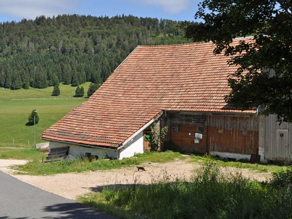 L'Auberson, Jura vaudois, 25 juin 2011. Le village de Michel Bühler et du Musée Baud.
