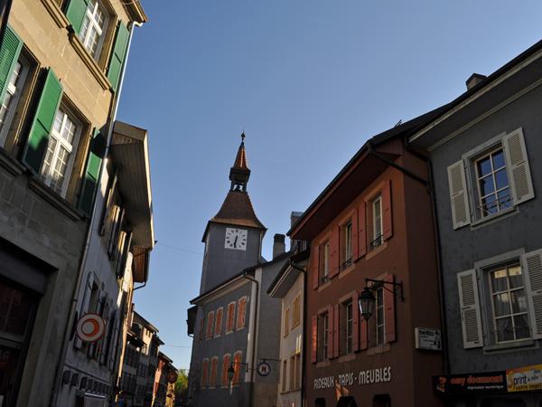 Orbe, ancienne ville romaine et médiévale au pied du Jura vaudois, 25 juin 2011.