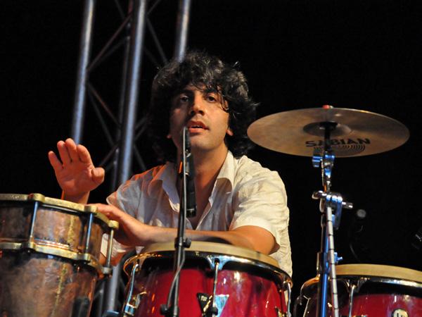 Montreux Jazz Festival 2011: Hü - Cem Yildiz & Smadj (electro world folk from Turkey), July 12, Music in the Park (Parc Vernex).
