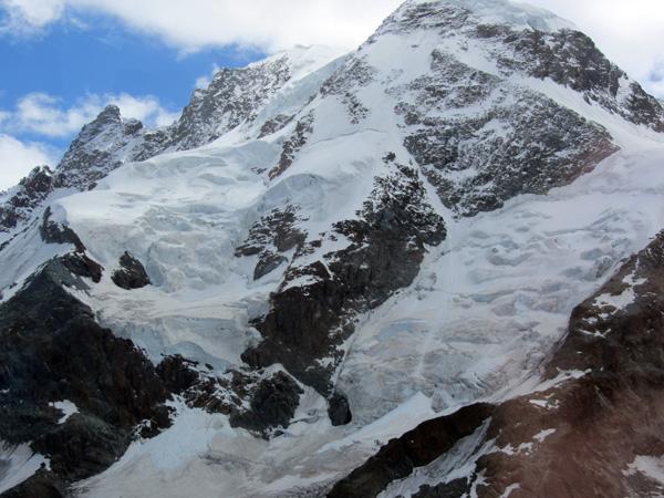 Région du Cervin (Matterhorn), paysages des Alpes entre Zermatt et Petit Cervin, 13 août 2011.